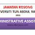 Jawatan Kosong di Universiti Tun Abdul Razak