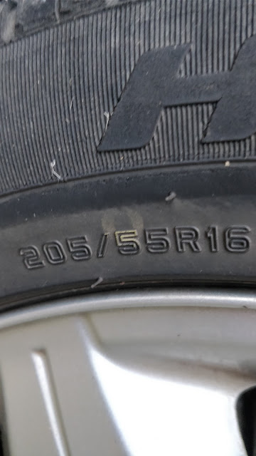 numbers on tyre wall