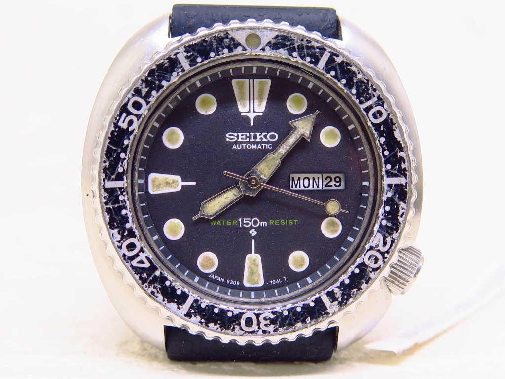 SEIKO DIVER 6309 7040 PATINE INDEX BLACK DIAL BEZEL - AUTOMATIC
