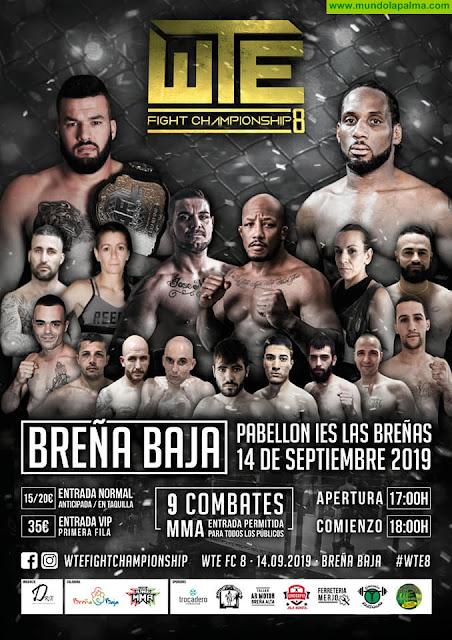 WTE Fight Championship este sábado en Breña Baja