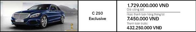 Giá xe Mercedes C250 Exclusive 2017 tại Mercedes Trường Chinh
