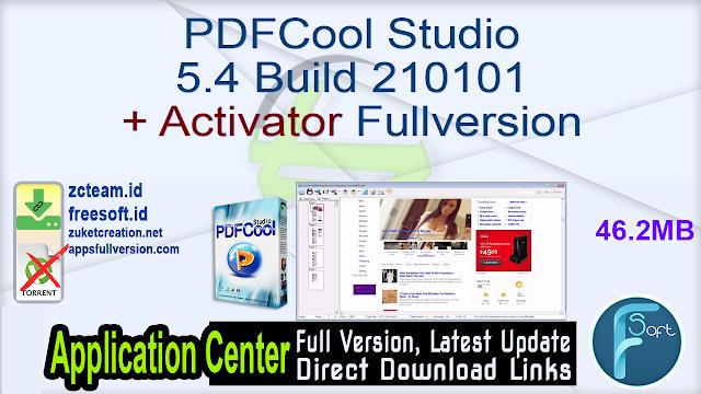 PDFCool Studio 5.4 Build 210101 + Activator Fullversion