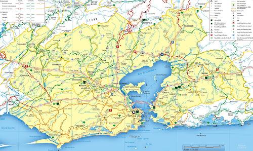 Mapa rodoviário da região metropolitana do Rio de Janeiro