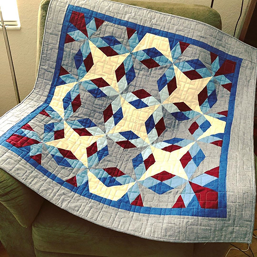 Antique Americana Throw Quilt by Blue Bear Quilts, The Pattern designed byAccuQuilt