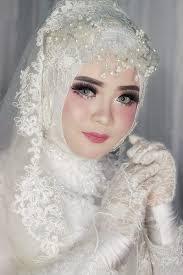 gaya hijab pengantin 2021