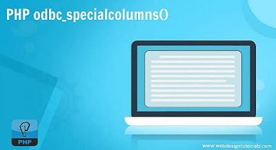 PHP odbc_specialcolumns() Function