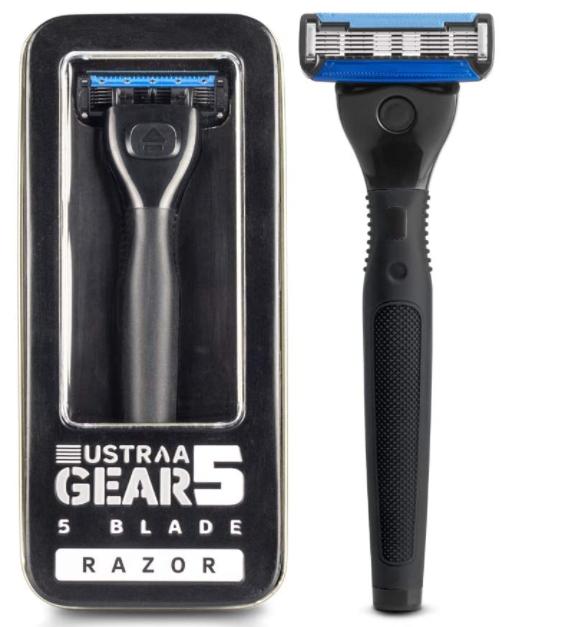 Ustraa Gear 5 Shaving Razor (Handle + Blade) - Black