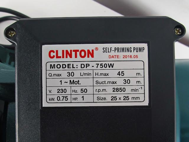 ปั้มน้ำเจทคู่ ออโต้ 750 วัตต์ 1 แรงม้า DP750W+AUTO