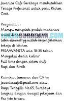 Info Lowongan Kerja di Javanica Cafe Surabaya November 2019