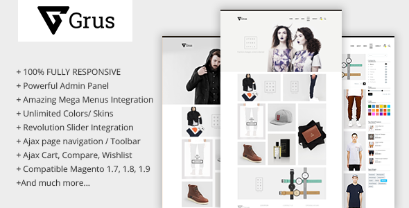 minimalism responsive magento theme
