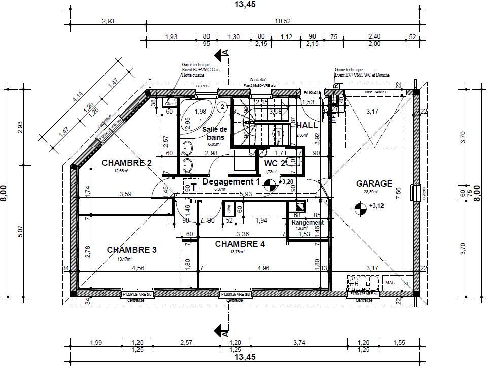 plan maison suite parentale. Black Bedroom Furniture Sets. Home Design Ideas