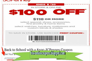 Free Printable JCPenney Coupons