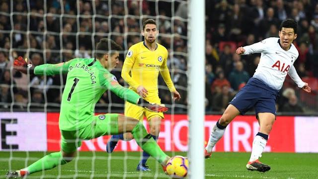 Tottenham Son scores Kepa