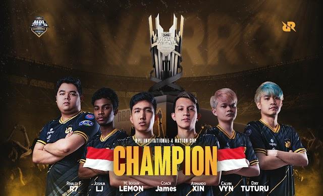 Grand Final MPL Invitational  4, Indonesia Juara, RRQ bantai Resurgence