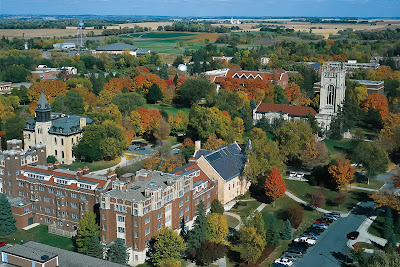 overhead view of Carleton College campus