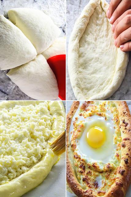 Do Georgia giáp với Biển Đen, nên những chiếc bánh mì có hình thuyền, phần phô mai tượng trưng cho mặt biển, và quả trứng chính là mặt trời. Người dân Georgia đã tái hiện hình ảnh cuộc sống của mình qua một món ăn như thế.