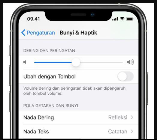 ubah nada dering di iphone