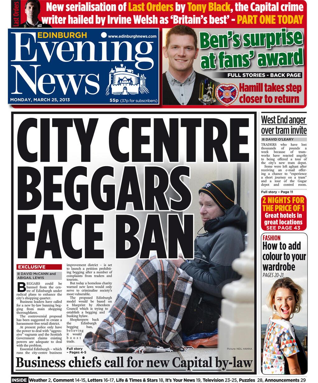 edinburgh daytime current information articles