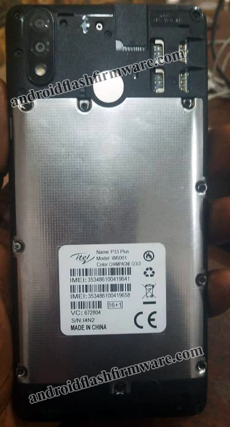 iTel P33 plus W6001 Firmware Flash File Spd Android 8 1 Frp Hang