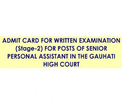 GHC Admit Card for SENIOR PERSONAL ASSISTANT