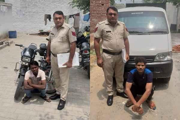 crime-branch-sector-65-arrested-2-vahan-chor-4-august-2019