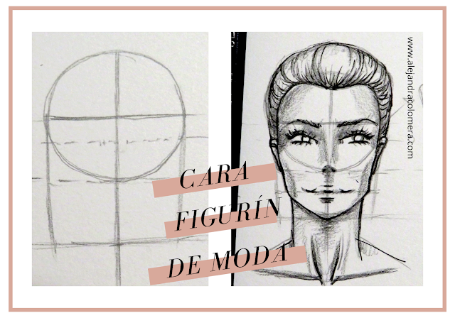 Dibujo estructura base de cara y cara finalizada