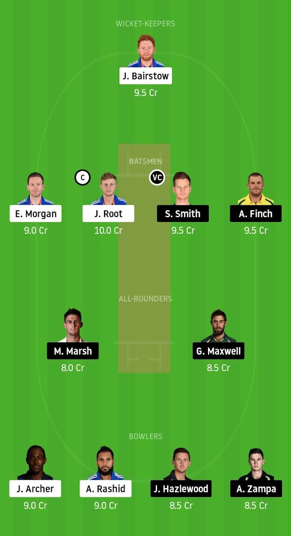 Must Win Battle For Battle World Champions - England vs Australia 2nd ODI Dream11 Prediction