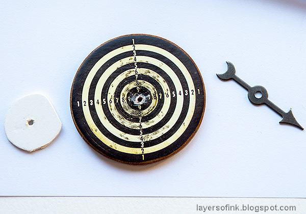 Layers of ink - Mini Vintage Dartboard Tutorial by Anna-Karin Evaldsson.