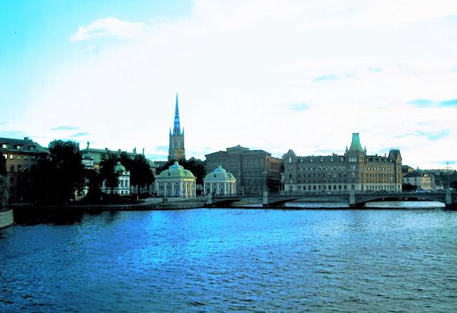Stoccolma lo skyline visto dal mare