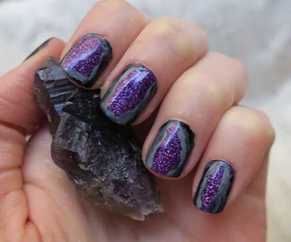 Gorgeous Geodes Funny Nail Designs