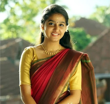 Anaswara Rajan in saree