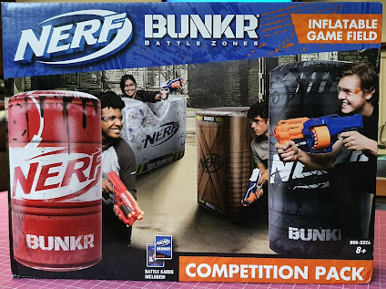 Nerf BUNKR Battle Zone System Review (age 8+) box front