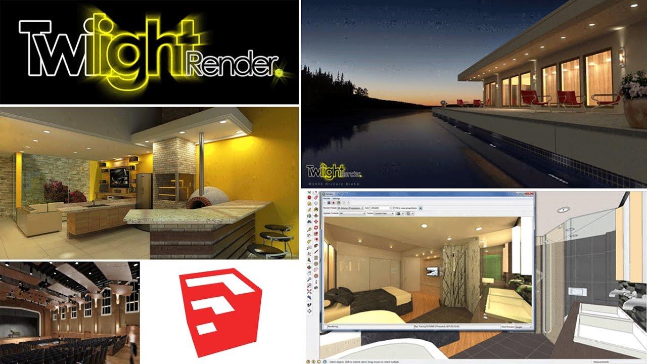 Software: Twilight Render V2 pro for SketchuUp pro 2016-2018
