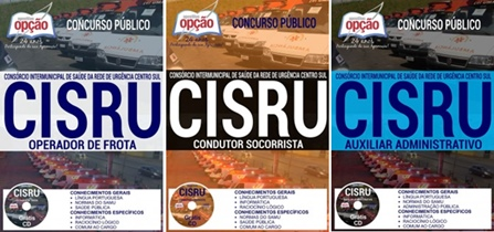 Apostila CISRU MG 2017 -  Diversos Cargos