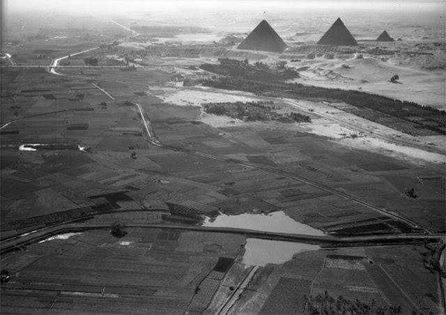 Cairo, Egito. Vista das pirâmides