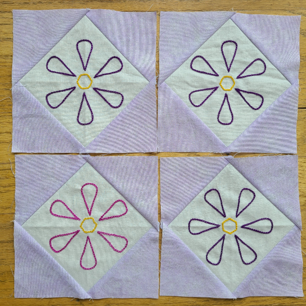 Small Snowball Flower blocks | DevotedQuilter.com