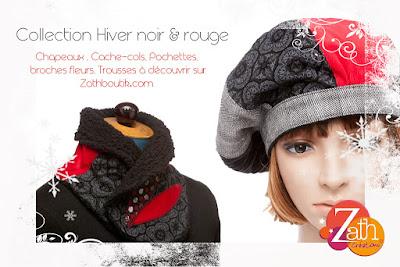 collection noir et rouge zath créations