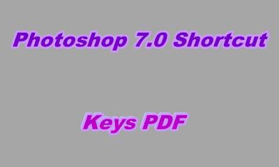 Photoshop 7.0 Shortcut Keys PDF