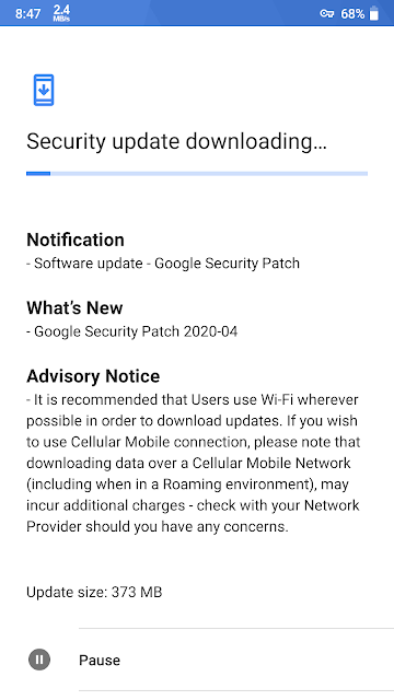 Nokia 6 receiving April 2020 Android Security Patch