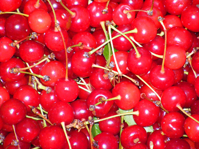Sour cherries. Photo by Loire Valley Time Travel.