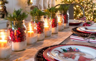 Resultado de imagem para ideias de decoração mesa de natal