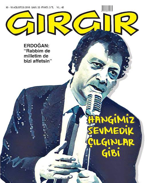Gırgır Dergisi - 10-15 Ağustos 2016 Kapak Karikatürü