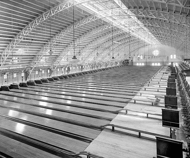 a 1925 bowling alley, large photograph