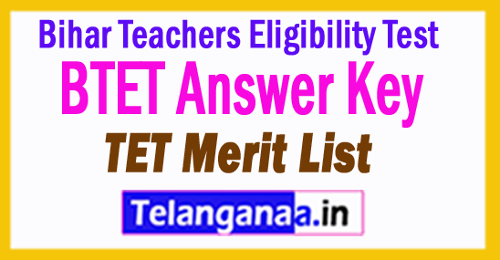 Bihar TET Answer Key 2018 BTET Results