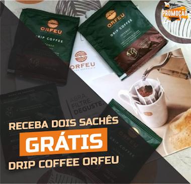 Amostras Grátis - Drip Coffee Orfeu Intenso 2 Sachês