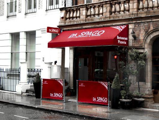 Kanopi kain warna merah untuk toko dan resto Kanopi kain warna merah untuk toko dan resto