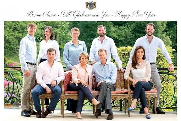 Grand Duchess Maria Teresa, Hereditary Grand Duke Guillaume, Hereditary Grand Duchess Stephanie, Prince Félix, Princess Claire, Princess Alexandra
