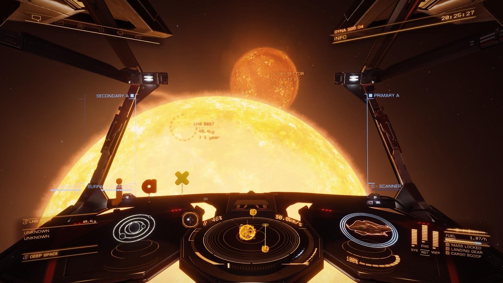 Kettőscsillag az űrhajóm cokcpit-jából nézve.