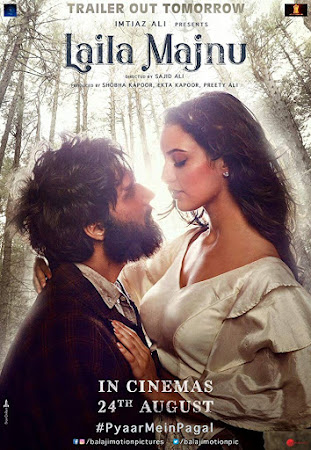 Poster Of Bollywood Movie Laila Majnu 2018 300MB Pdvd Full Hindi Movie