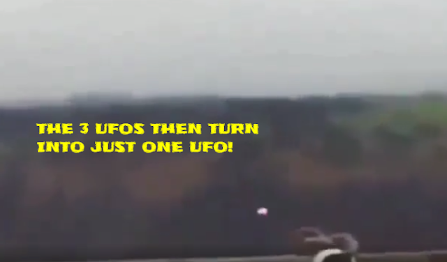 This where the UFOs turn in to just one UFO.
